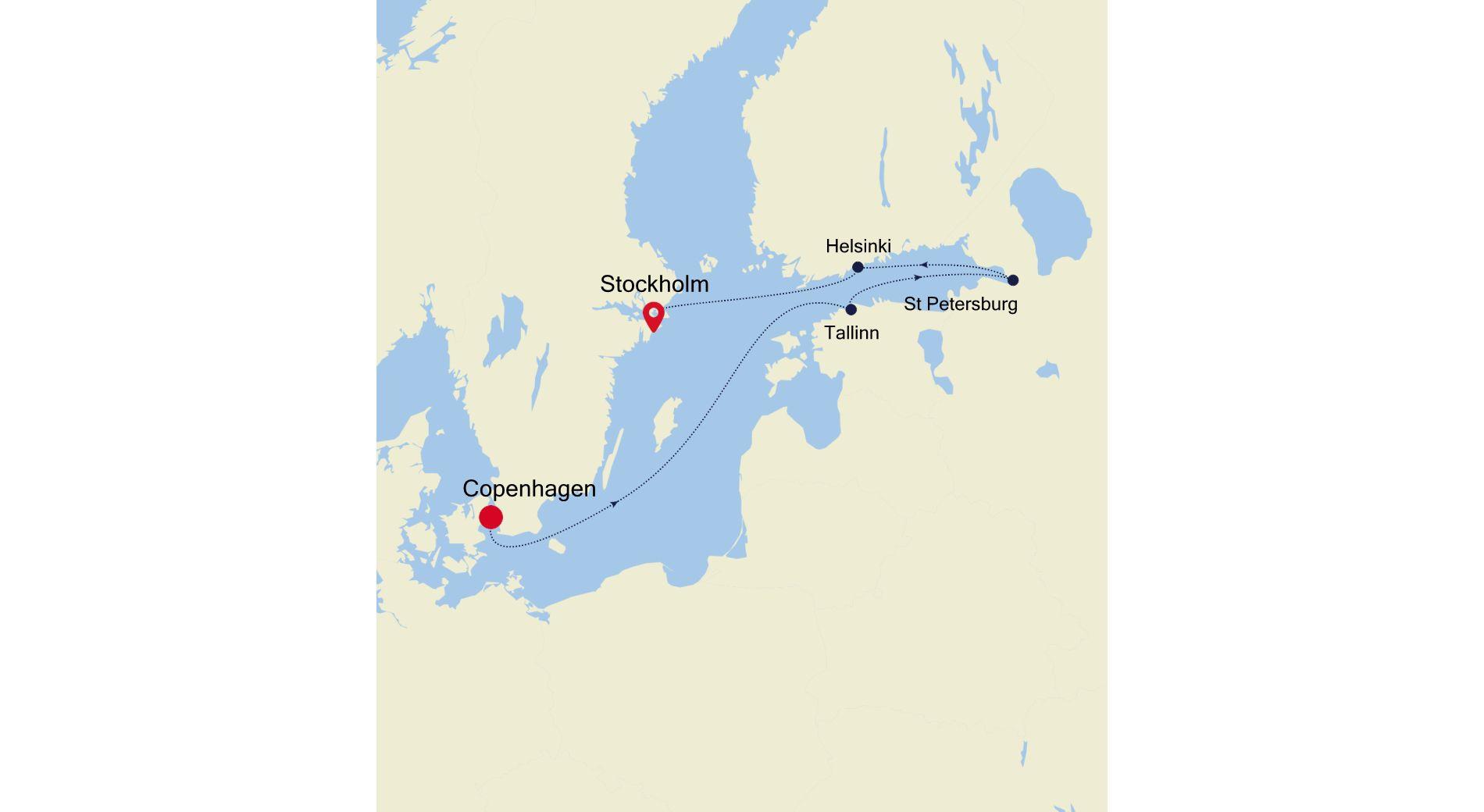5923 - Copenhagen nach Stockholm