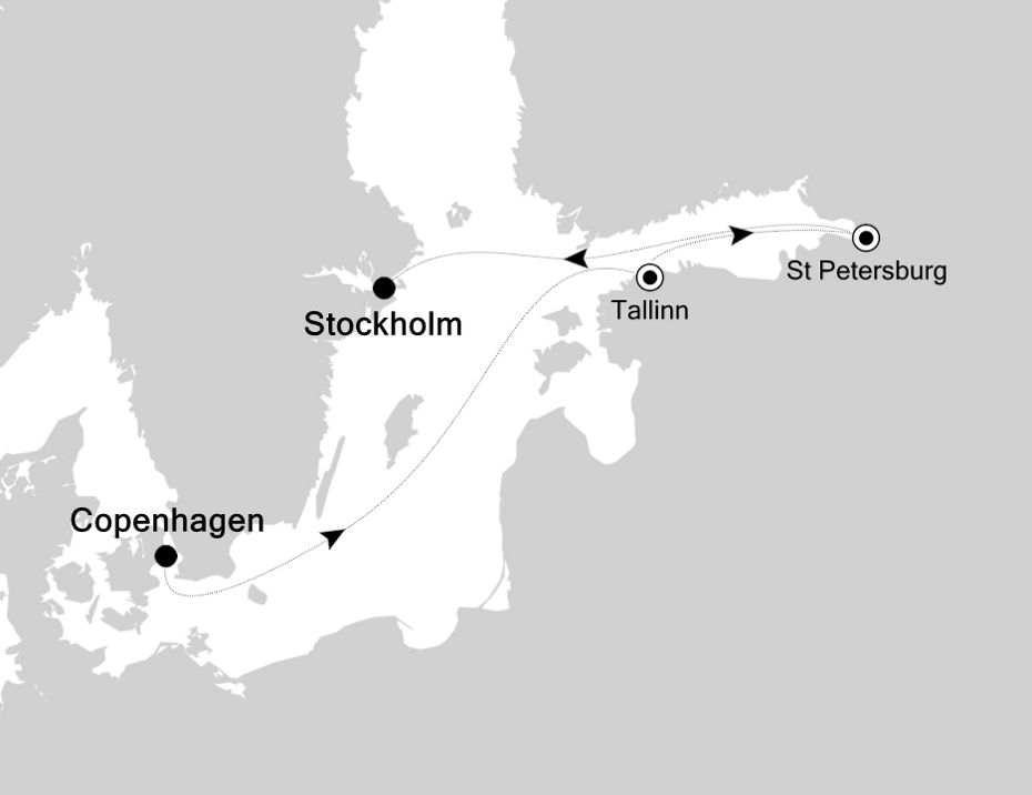 5925 - Copenhagen nach Stockholm