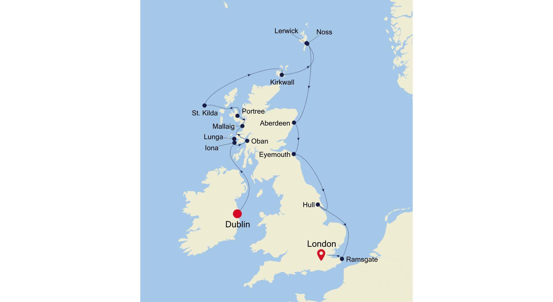 1912 - Dublin nach London