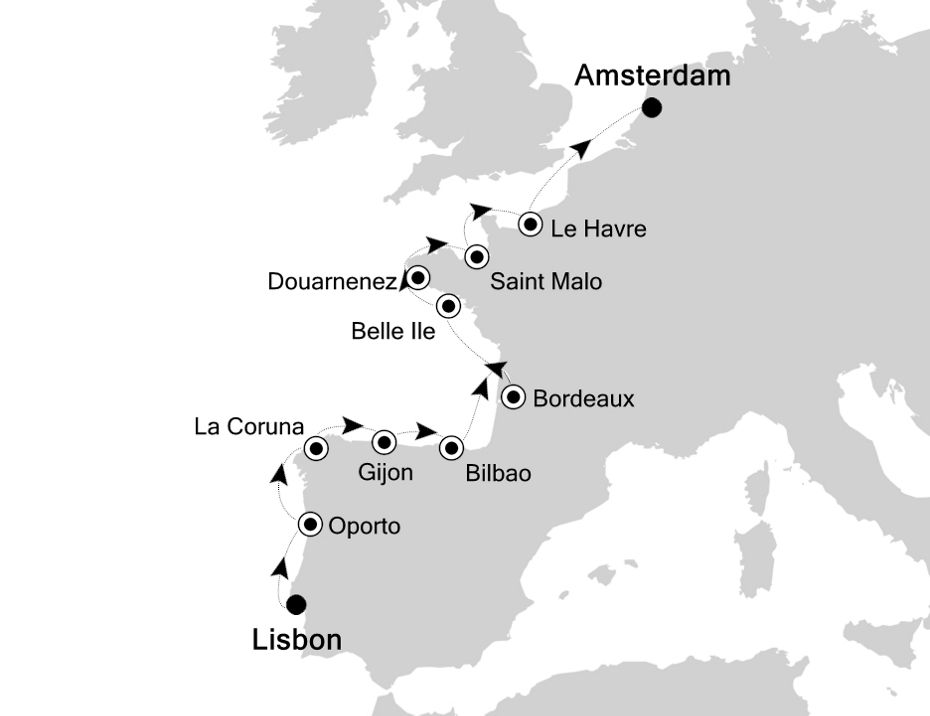 1910 - Lisbon to Amsterdam
