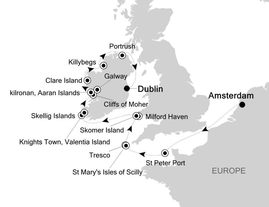 1911 - Amsterdam a Dublin
