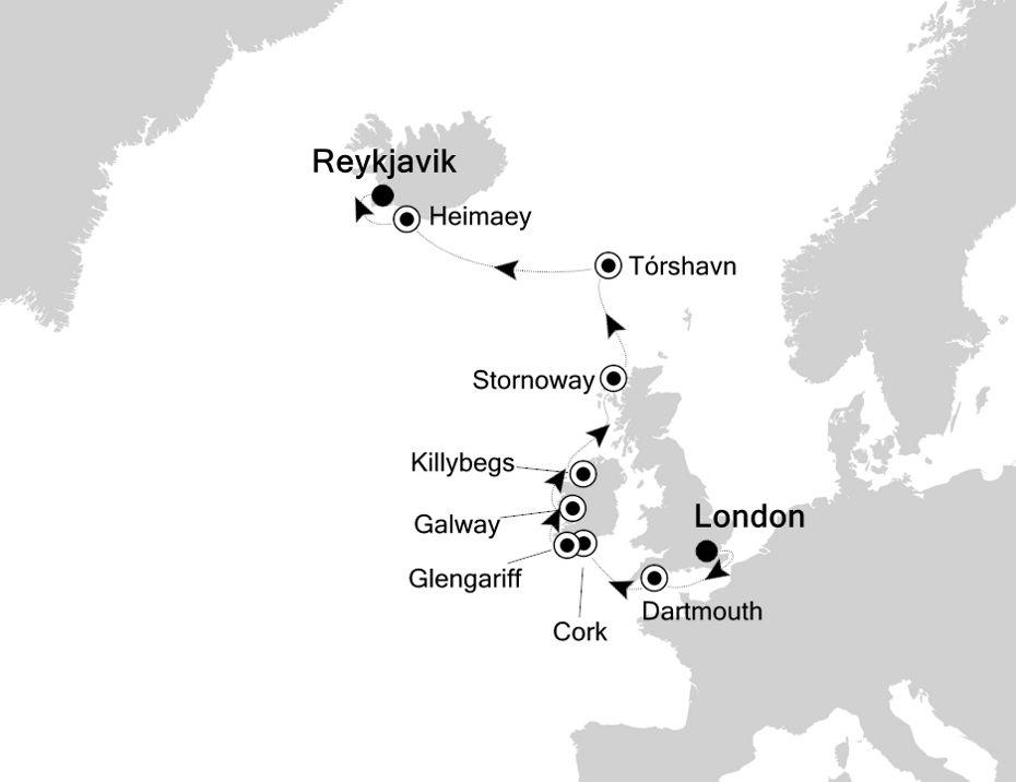 2829 - London nach Reykjavik