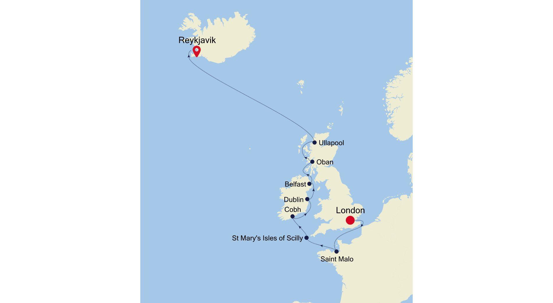 2921 - London a Reykjavik