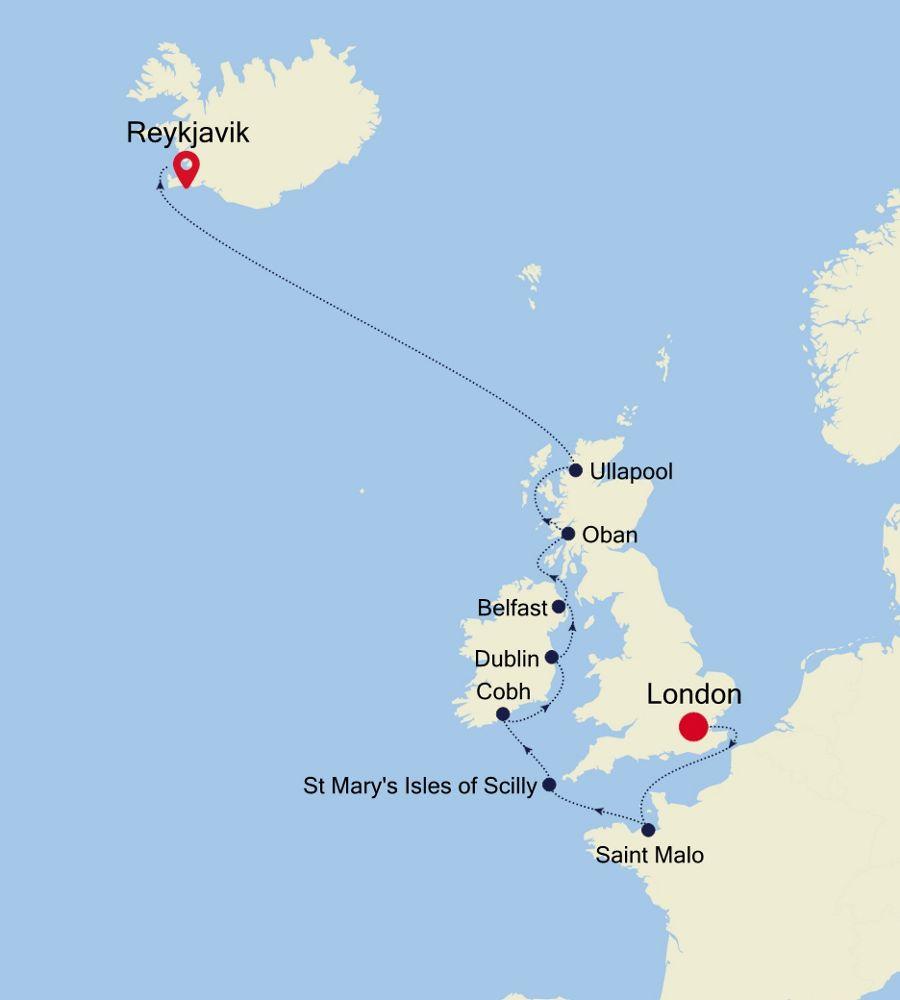 2921 - London à Reykjavik