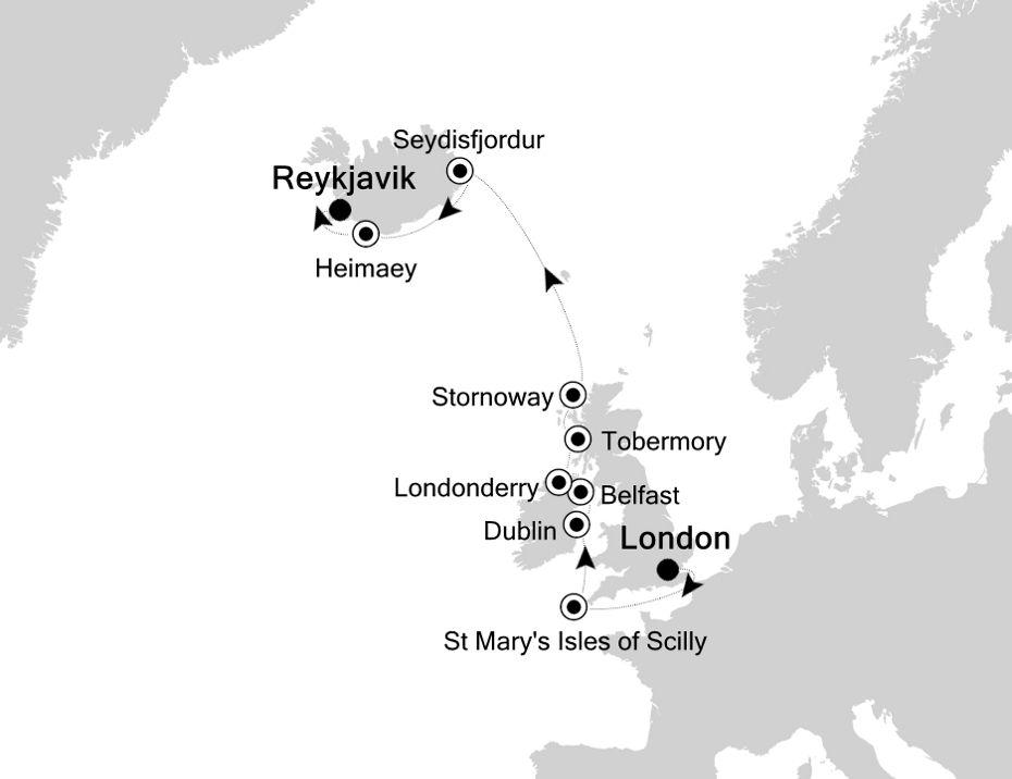 2924 - London a Reykjavik