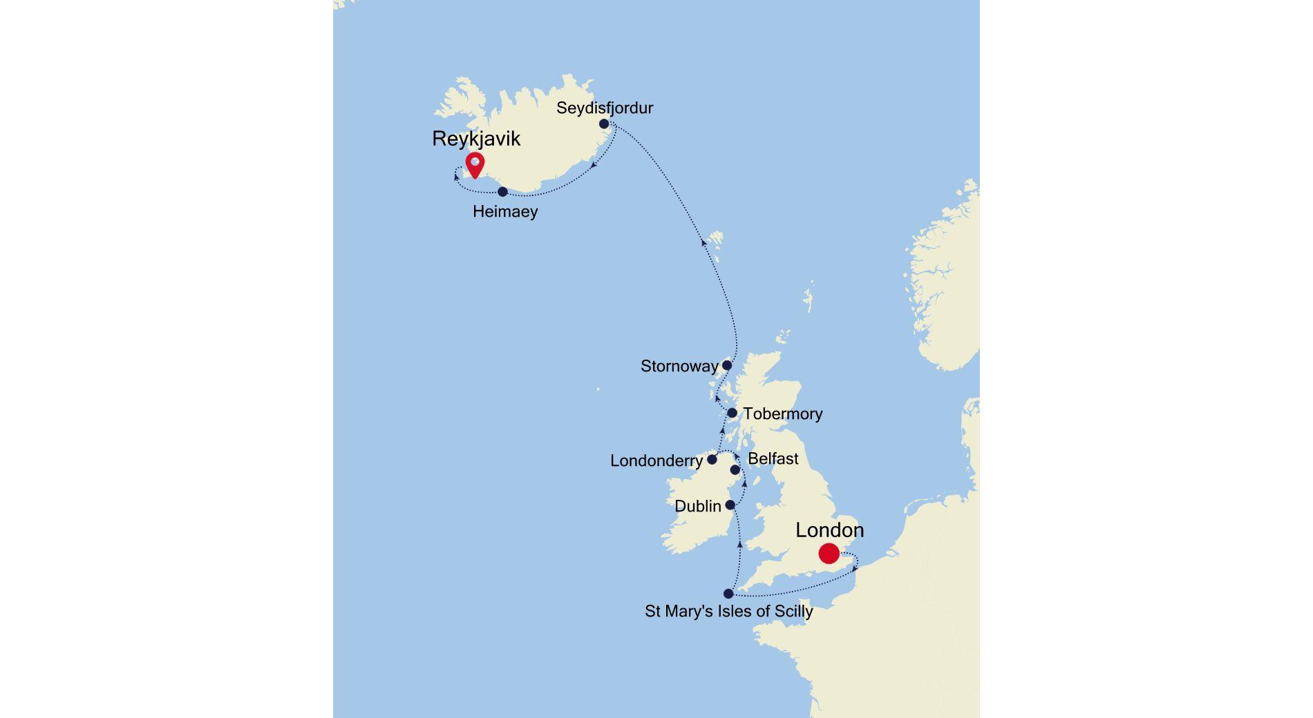 2924 - London à Reykjavik