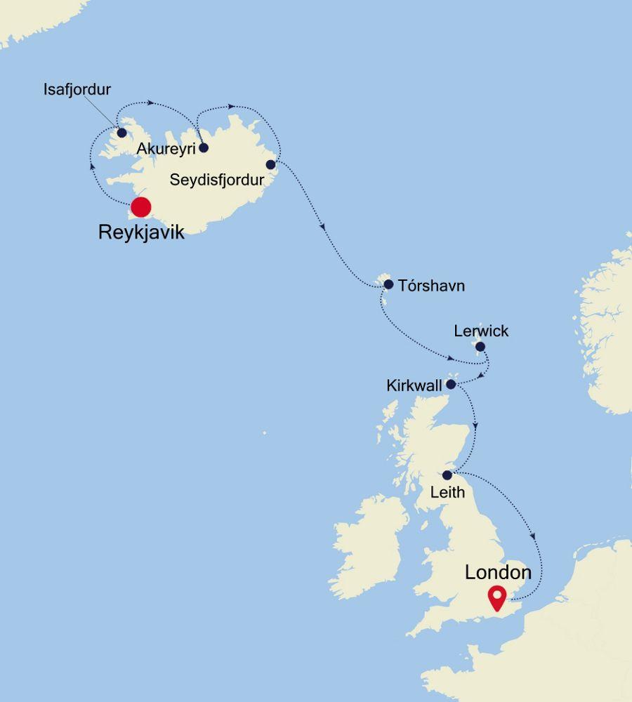 2922 - Reykjavik nach London
