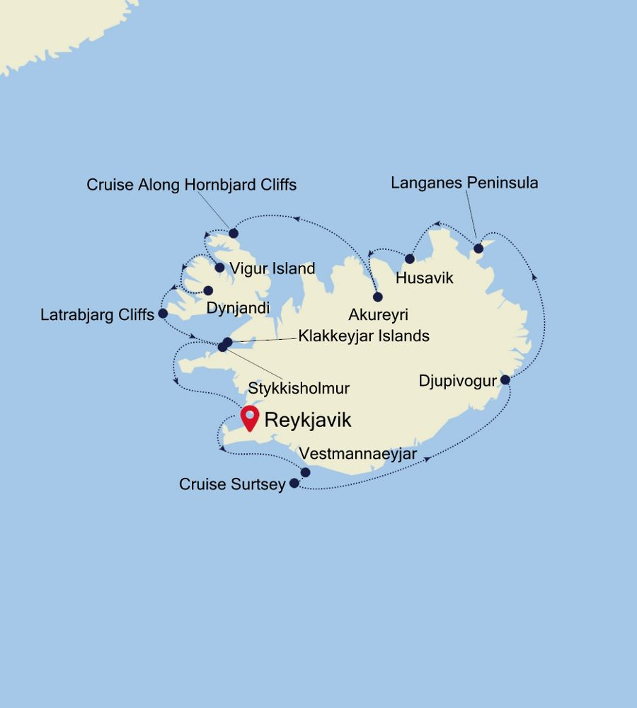 1918 - Reykjavik to Reykjavik