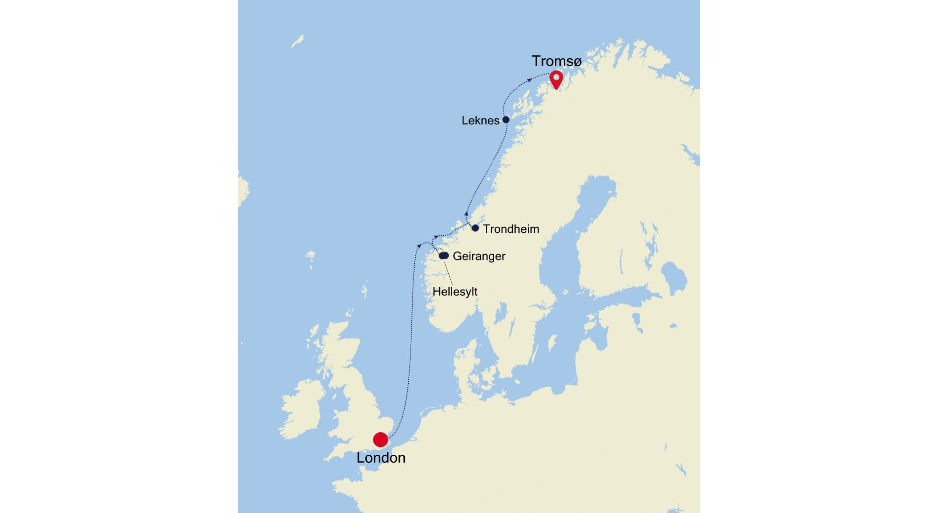 5917A - London to Tromsø