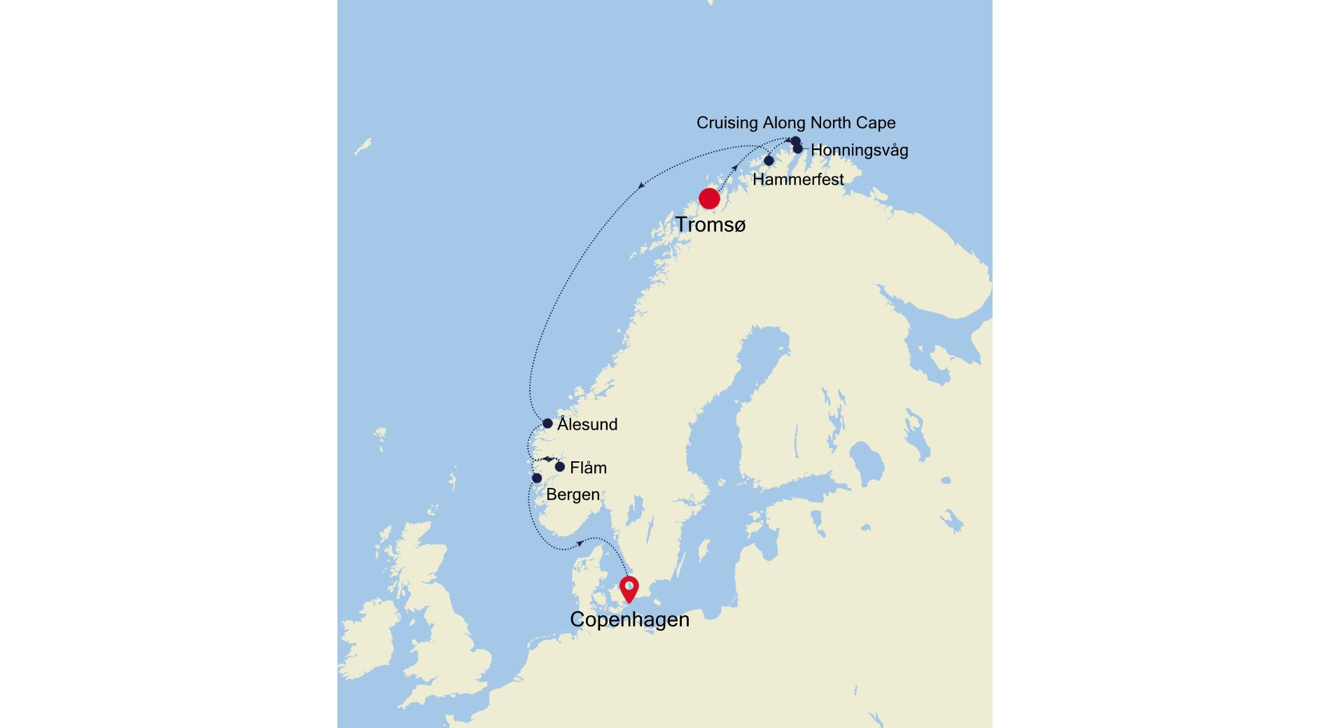 5917B - Tromsø a Copenhagen
