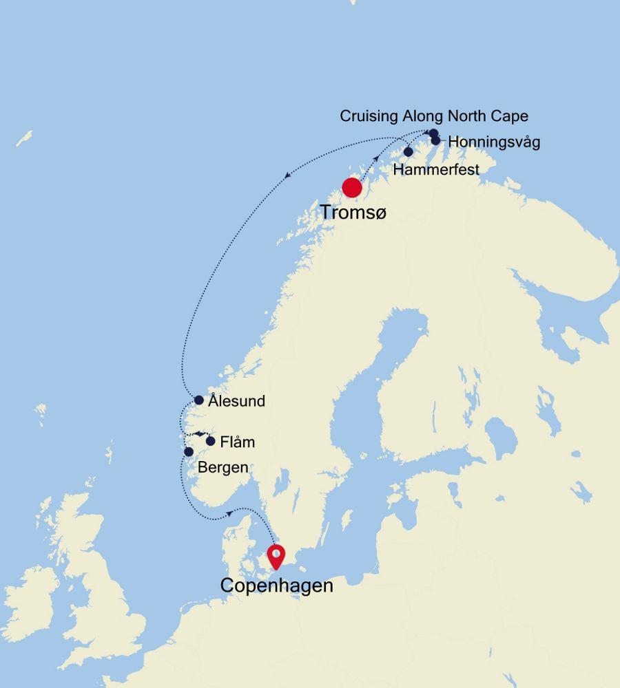 5917B - Tromsø nach Copenhagen
