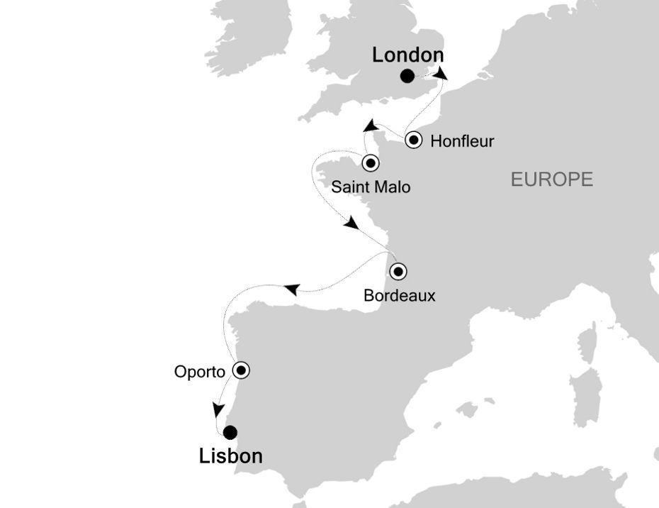 5927A - London à Lisbon