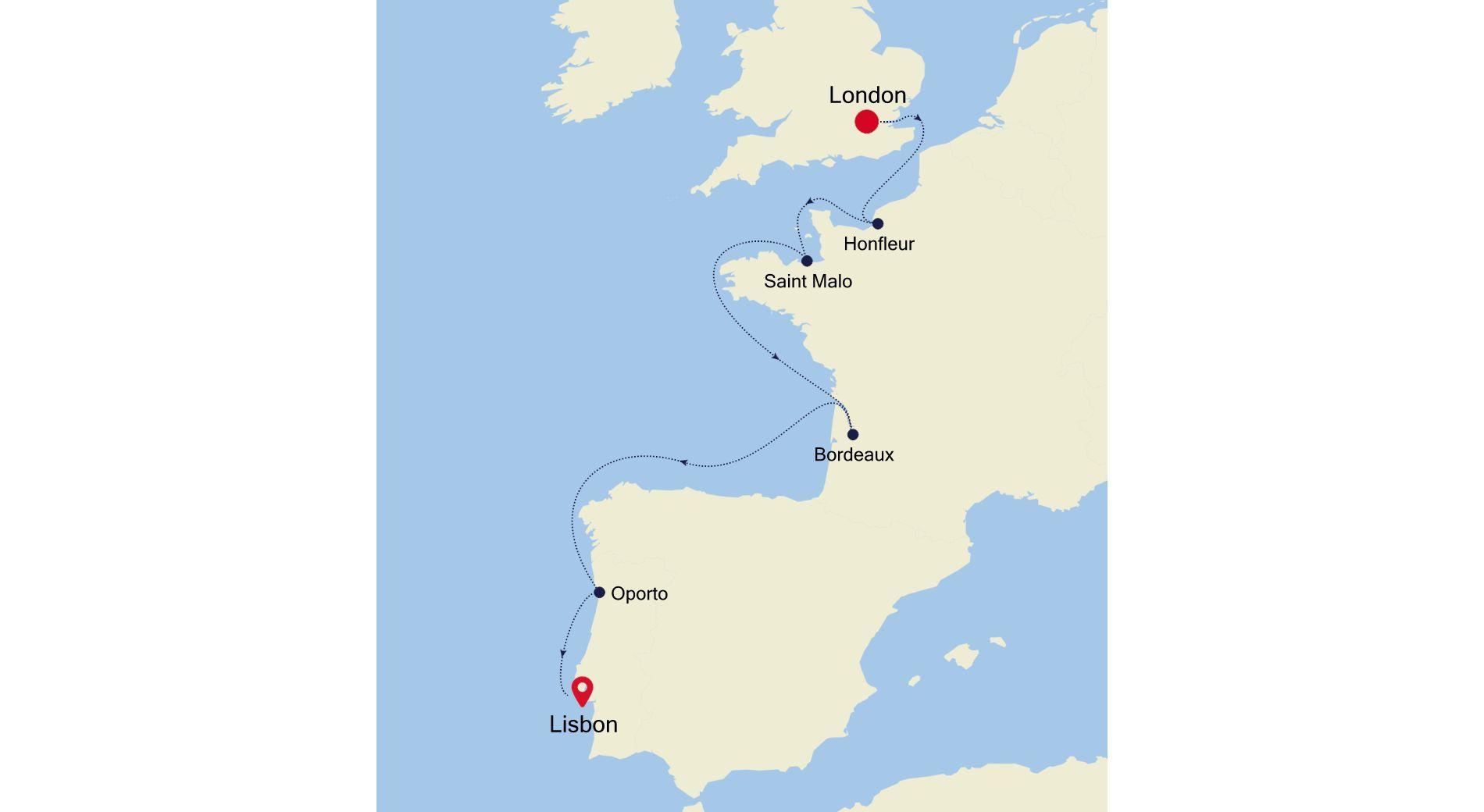 5927A - London nach Lisbon
