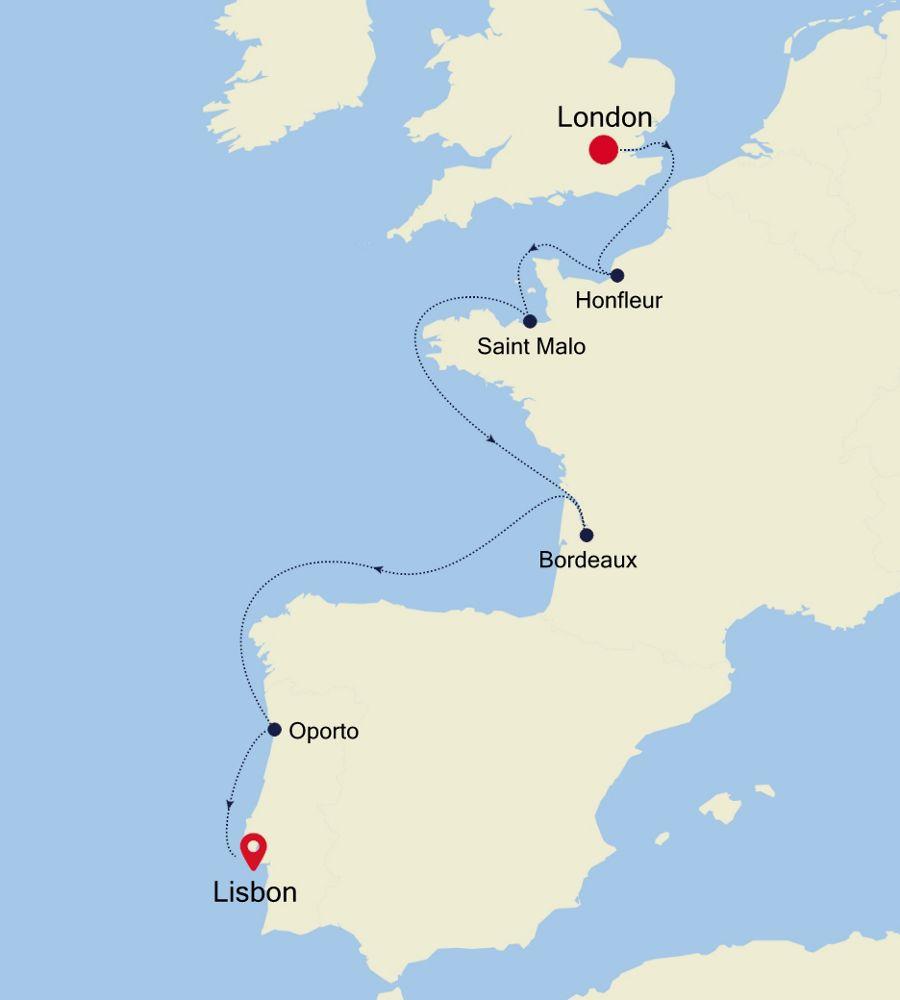 5927A - London a Lisbon