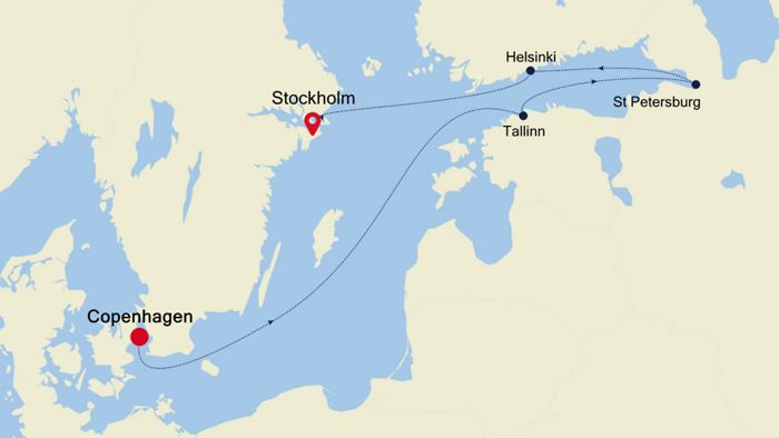 Luxury Cruise from COPENHAGEN to STOCKHOLM 20 Aug 2020