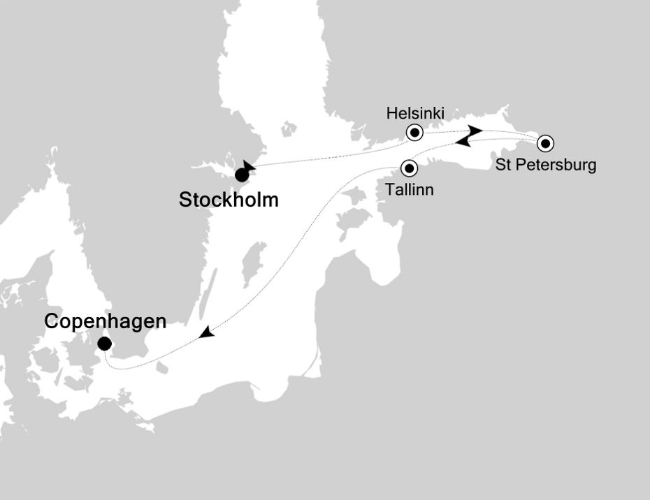 SL200827007 - Stockholm to Copenhagen