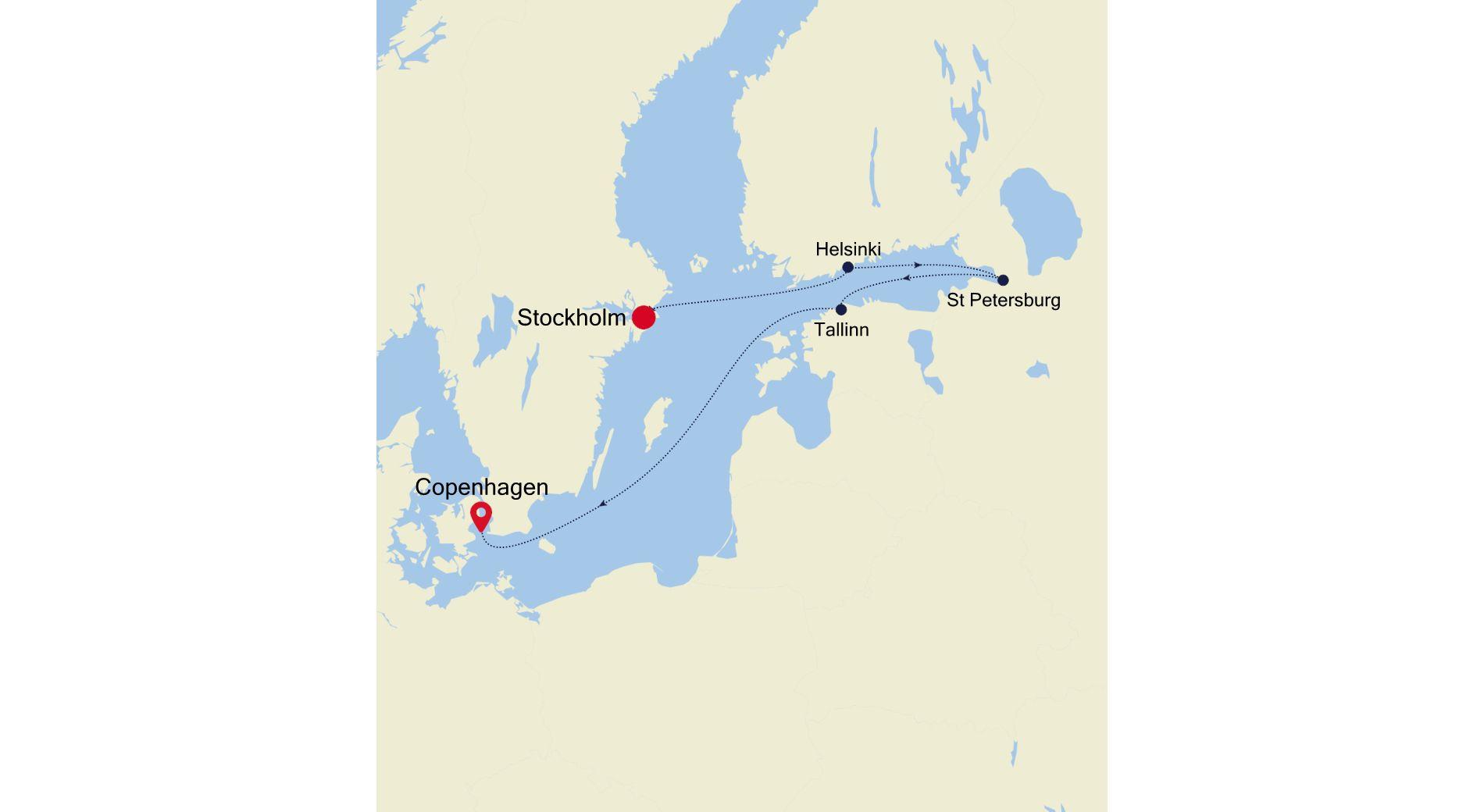 SL200827007 - Stockholm a Copenhagen