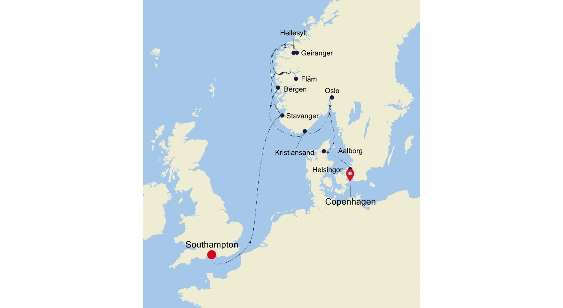 SL210610012 - Southampton à Copenhagen