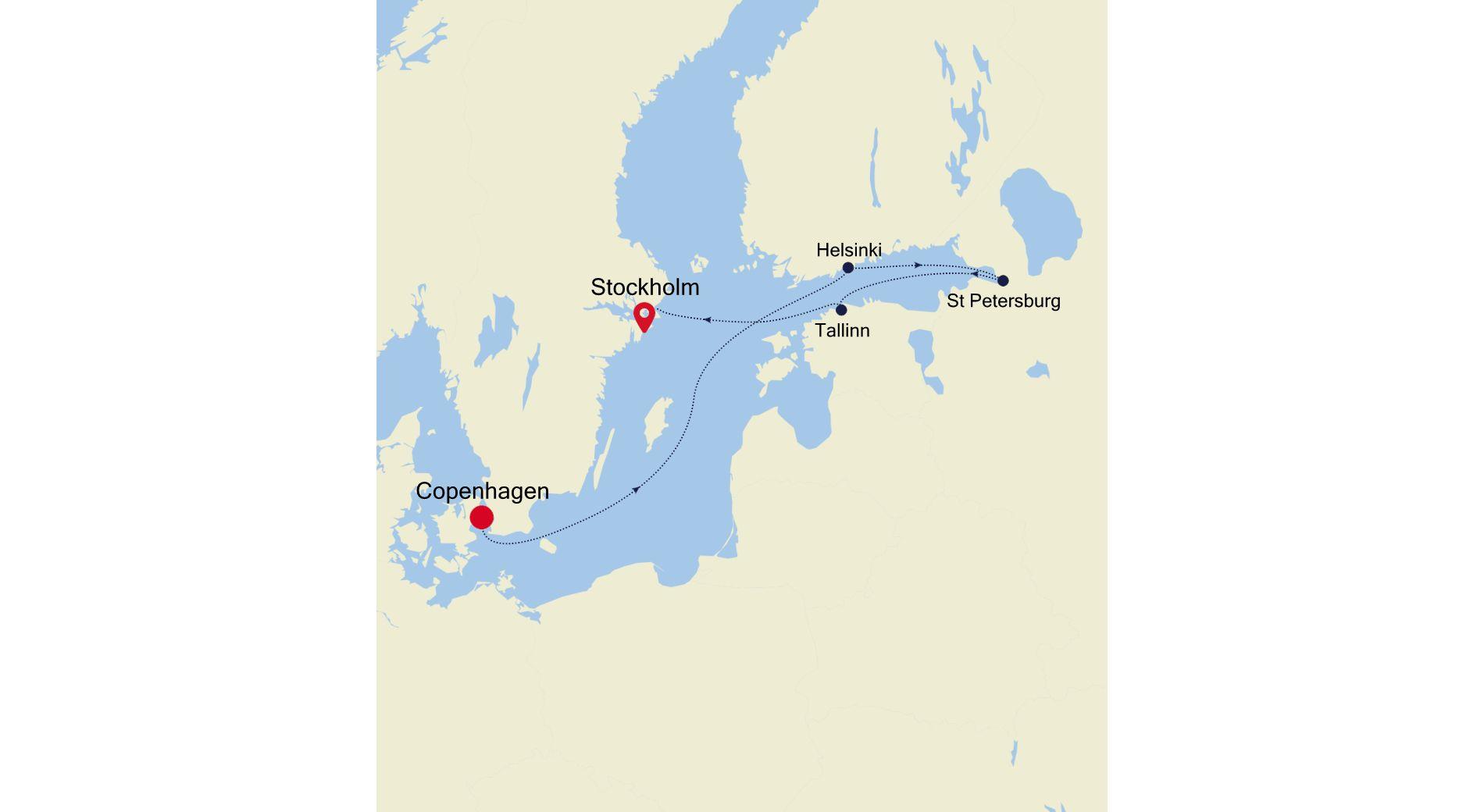 SL210716007 - Copenhagen nach Stockholm