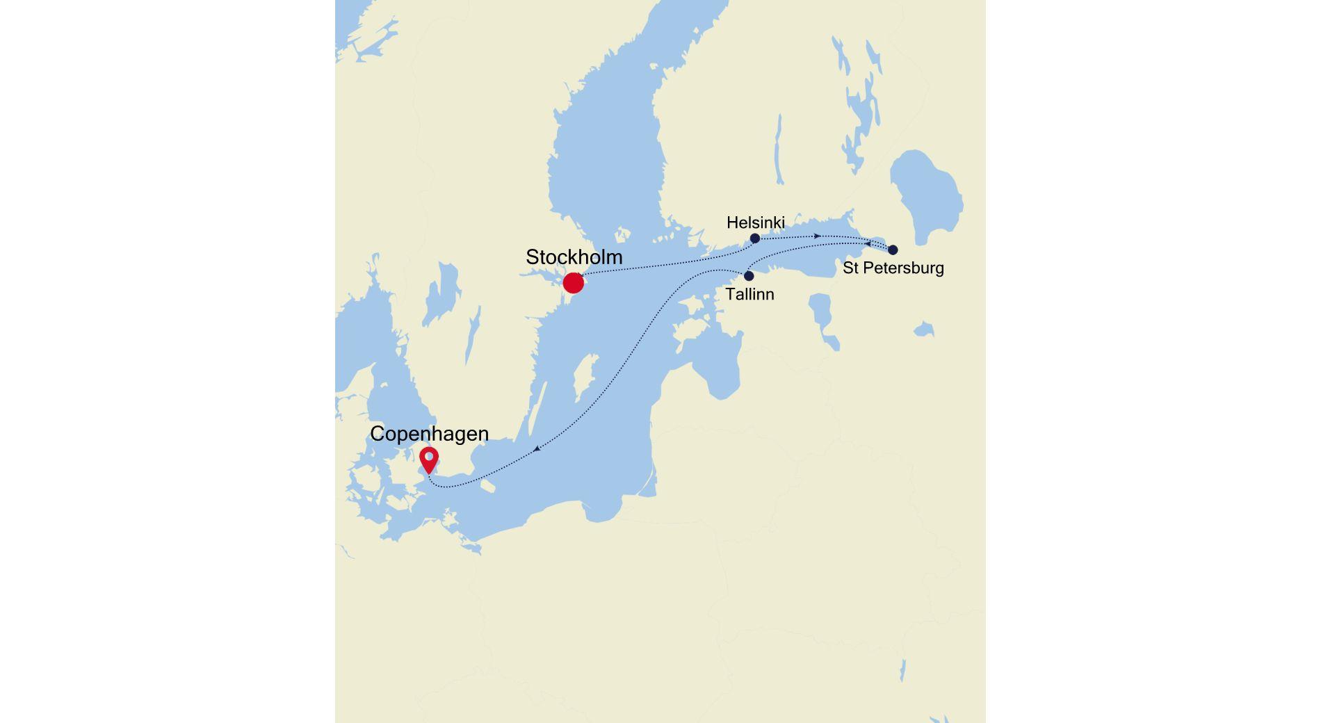 SL210816007 - Stockholm nach Copenhagen