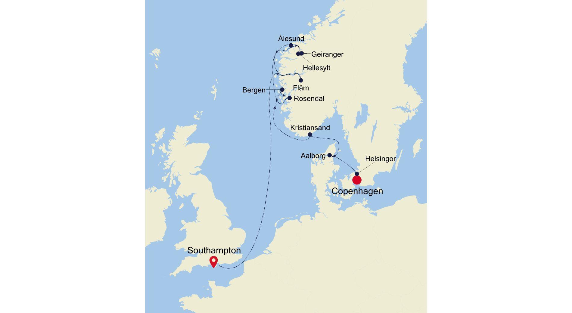 SL210823011 - Copenhagen nach Southampton