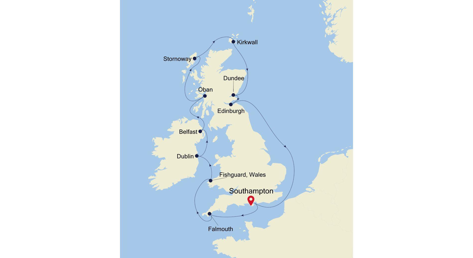 SL210903012 - Southampton to Southampton