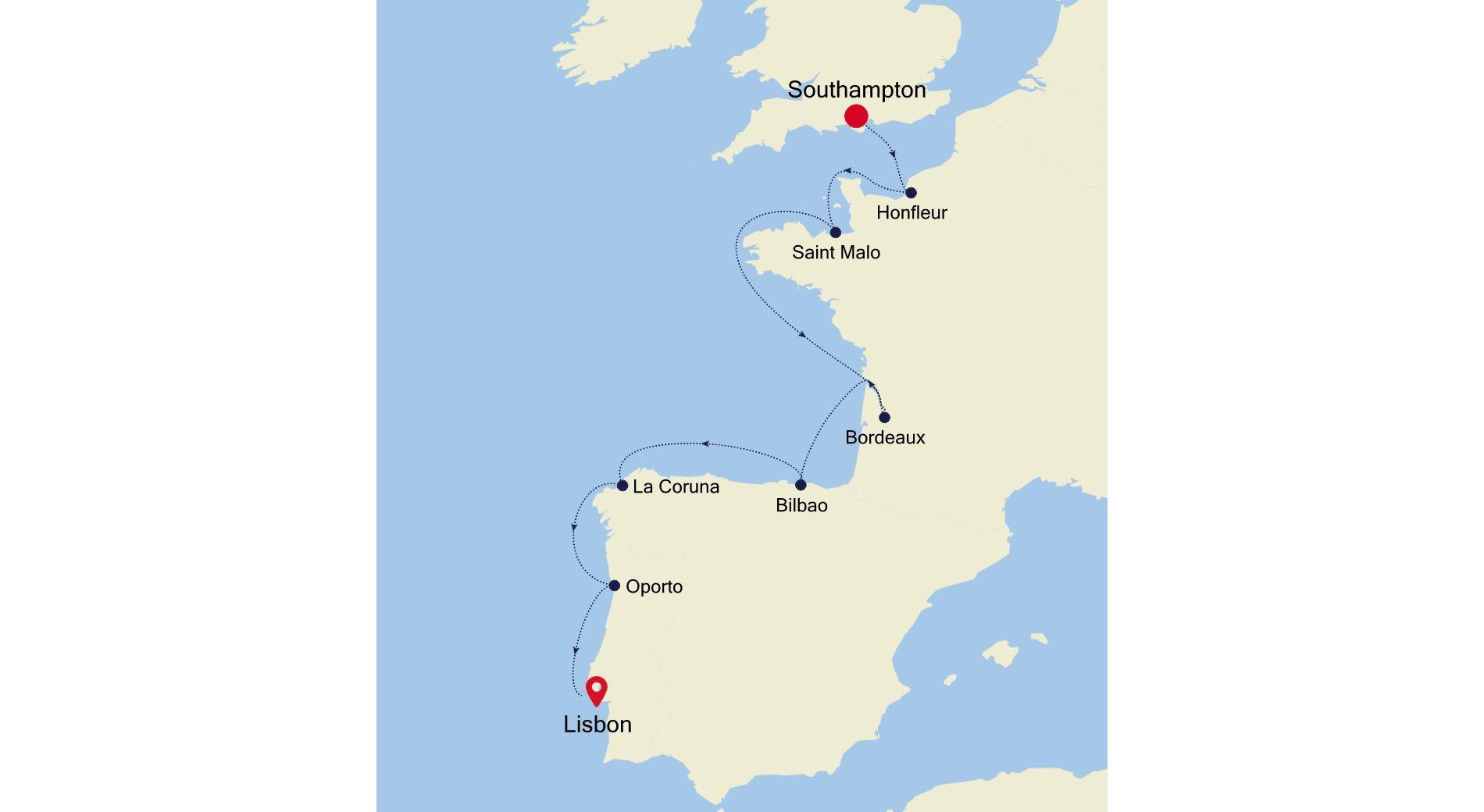 SL210927011 - Southampton a Lisbon