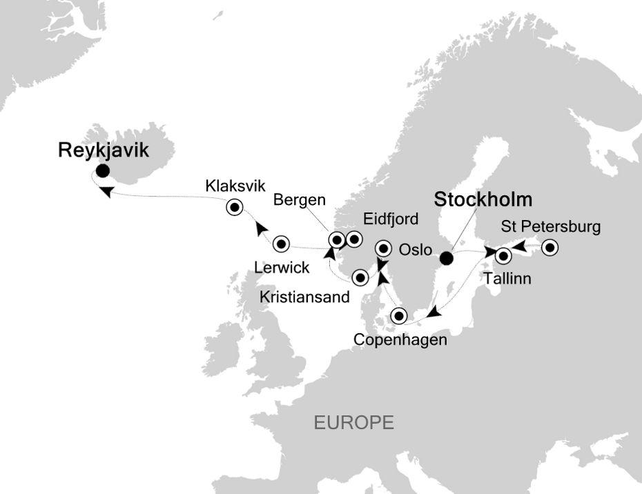 SW200613016 - Stockholm à Reykjavik