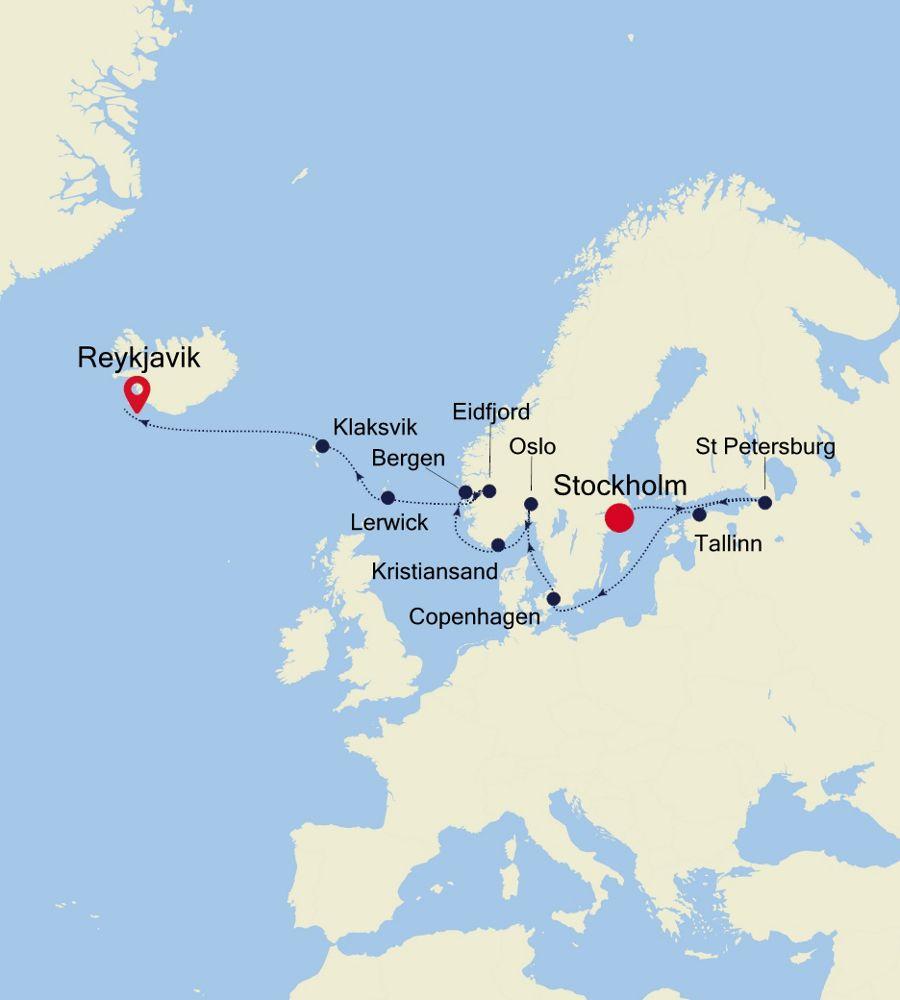 SW200613016 - Stockholm a Reykjavik
