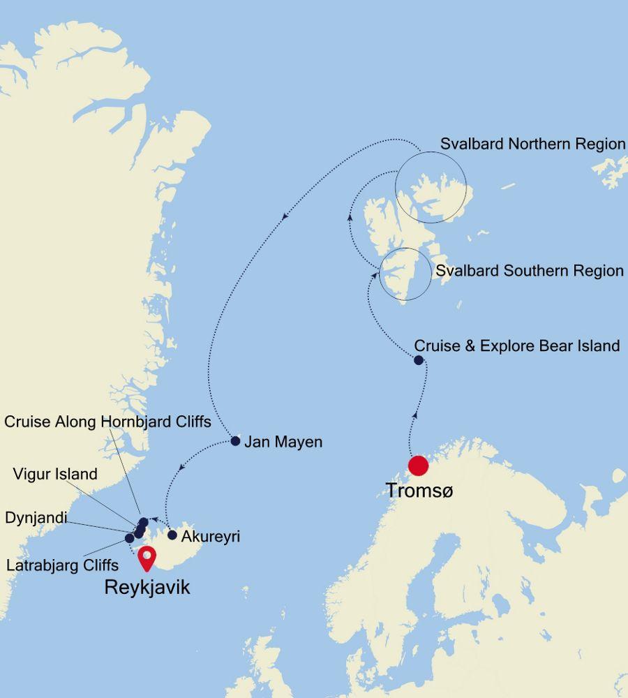 1917 - Tromsø nach Reykjavik