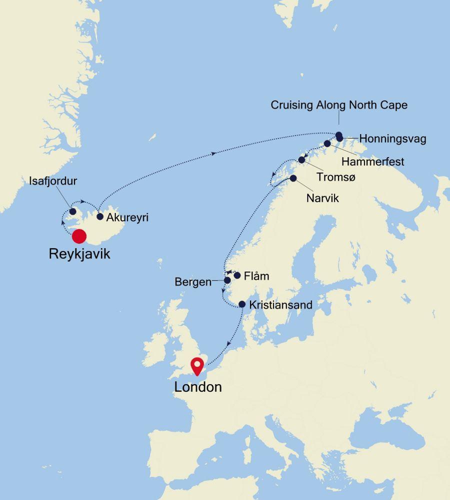 WH200618015 - Reykjavik nach London
