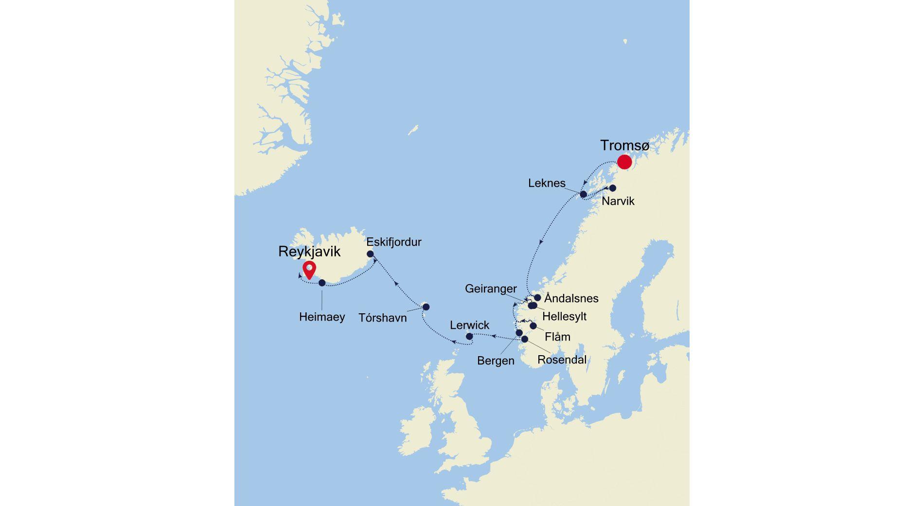 WH210807014 - Tromsø nach Reykjavik