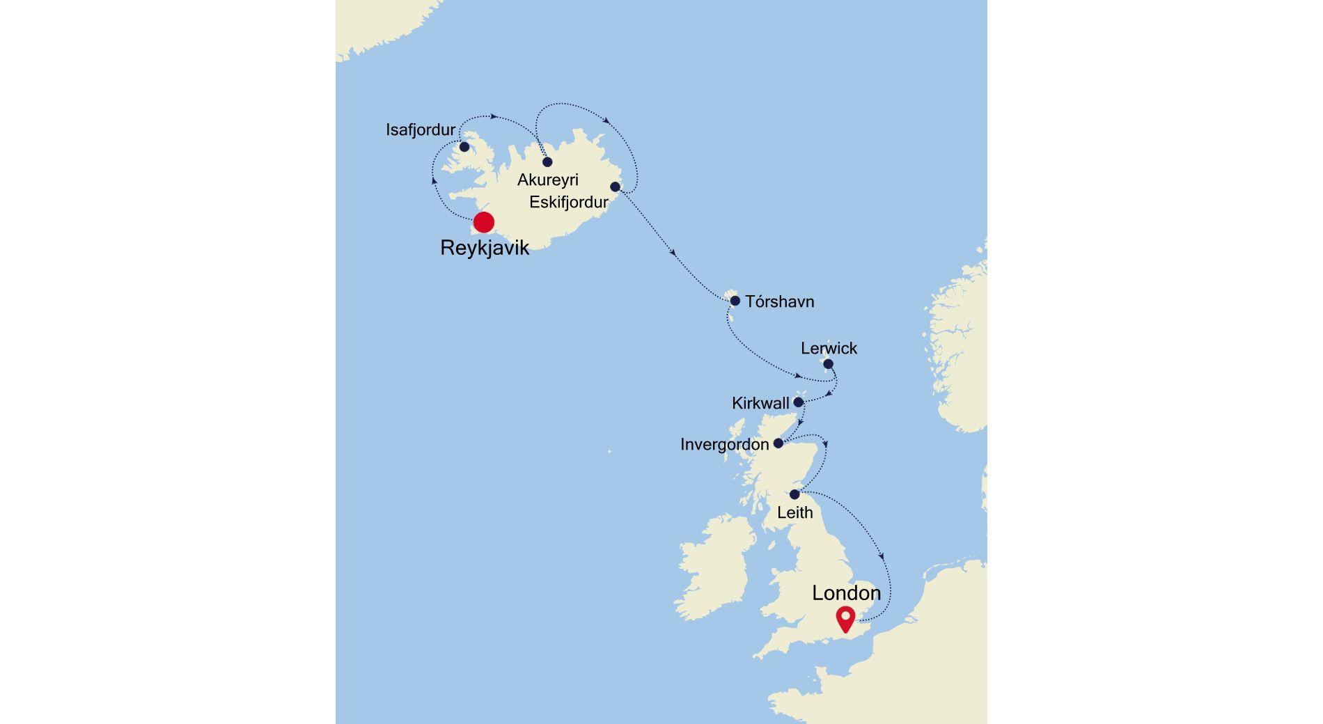 SW200708012 - Reykjavik nach London
