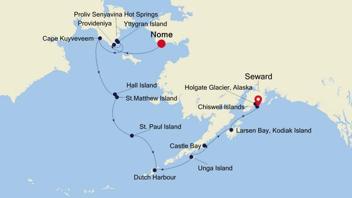 Luxury Cruise from NOME (Alaska) to SEWARD (Anchorage ...