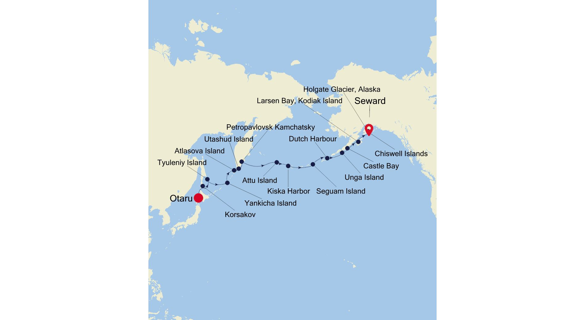 E1200706018 - Otaru à Seward (Anchorage