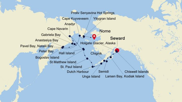 Alaska To Russia >> Luxury Cruise From Seward Anchorage Alaska To Nome
