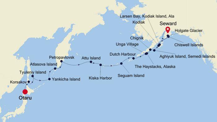 Resurrection Bay Alaska Map.Hokkaido To Seward Anchorage Alaska