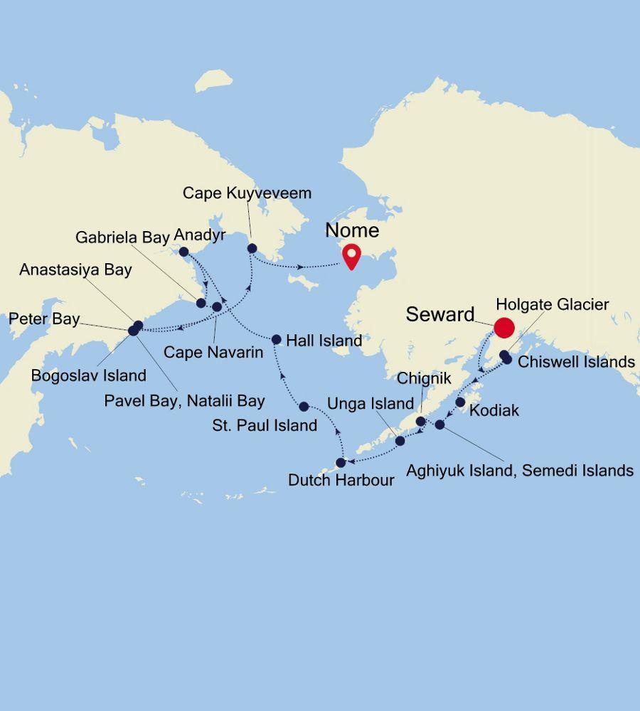 7915 - Seward nach Nome