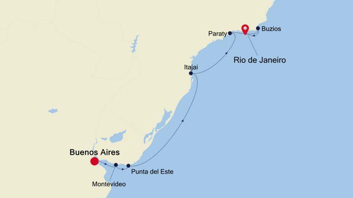 Luxury Cruise From Buenos Aires To Rio De Janeiro 26 Feb