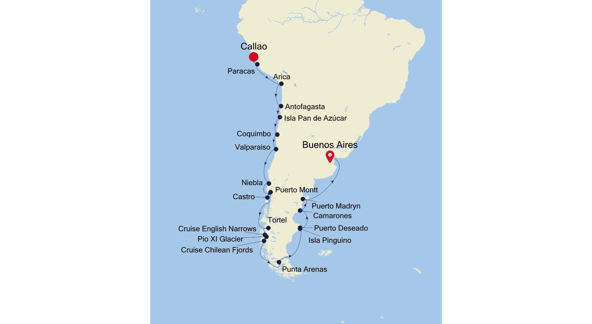 1924 - Callao nach Buenos Aires