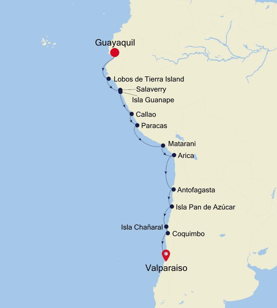 7921 - Guayaquil à Valparaiso