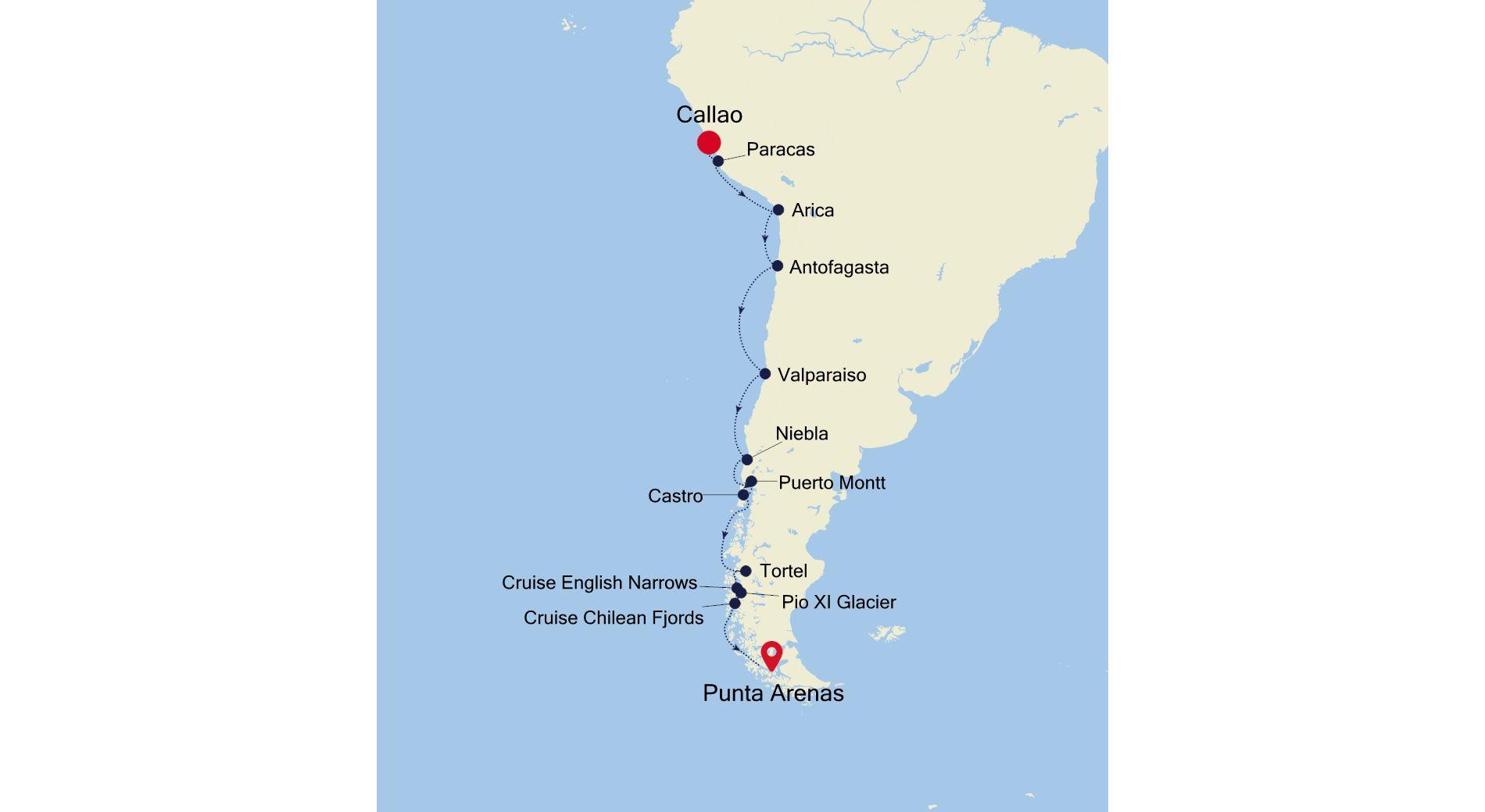 E4201028017 - Lima a Punta Arenas