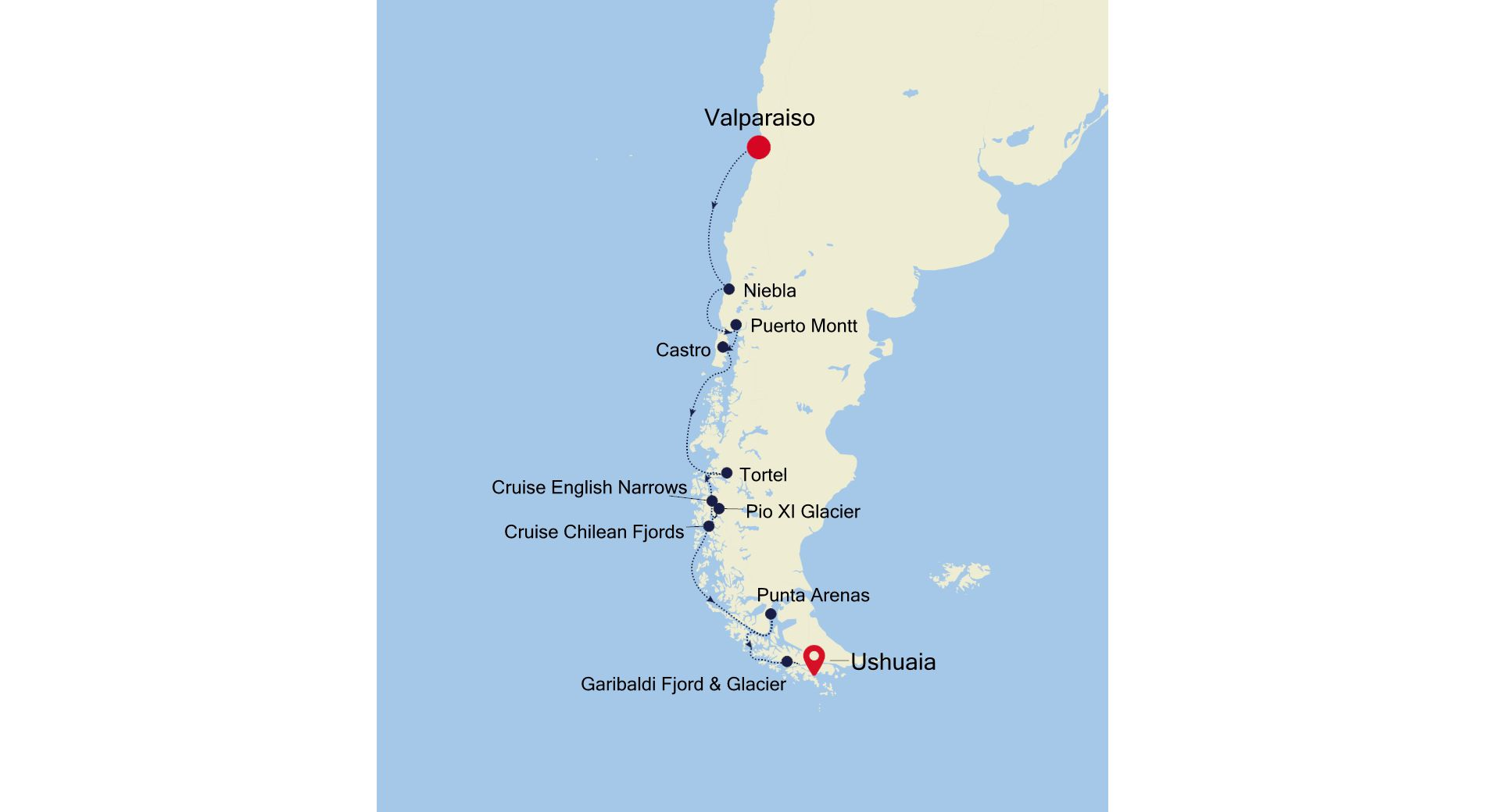 E4201104012 - Valparaiso to Ushuaia