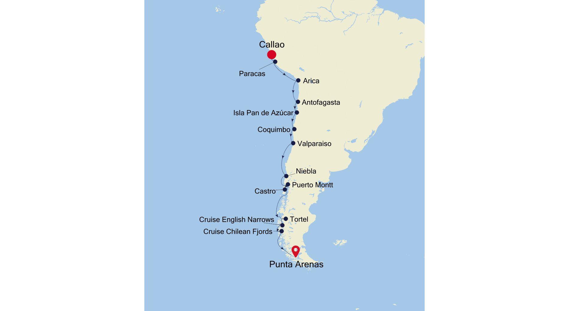 E4211028017 - Lima à Punta Arenas