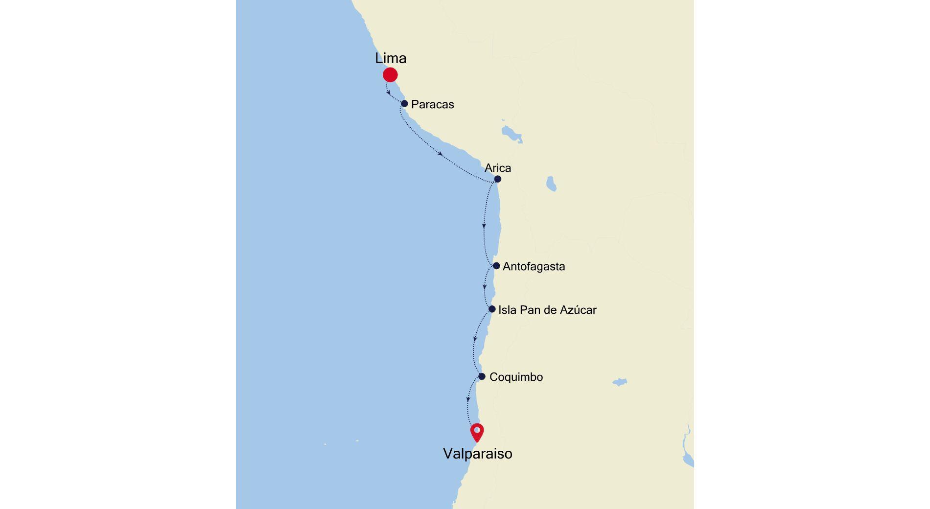 E4211028S08 - Lima a Valparaiso