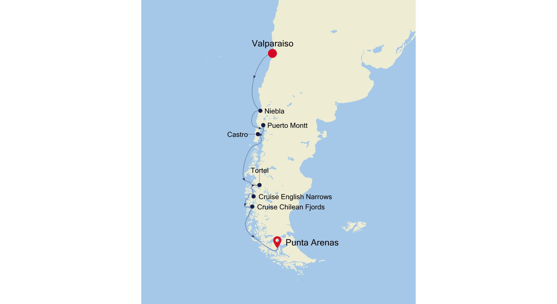 E4211105S09 - Valparaiso to Punta Arenas