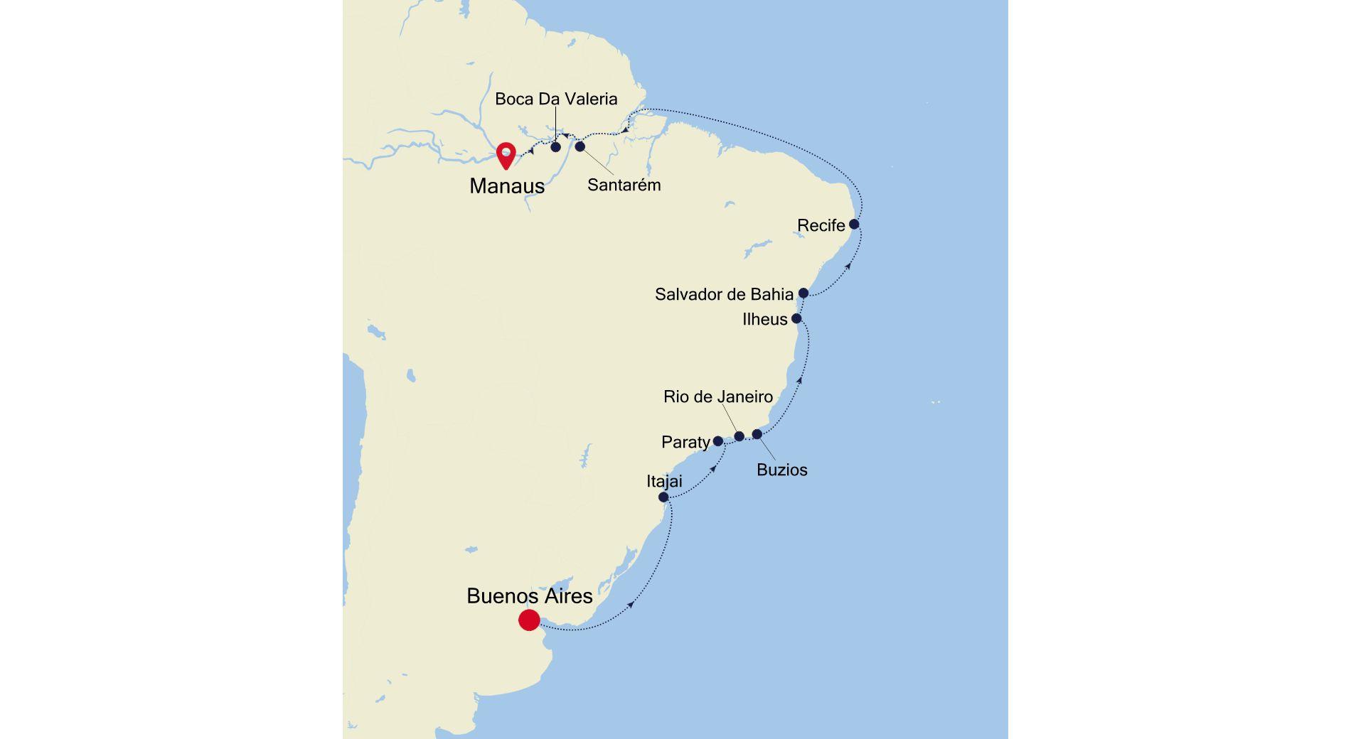 DA220209021 - Buenos Aires à Manaus