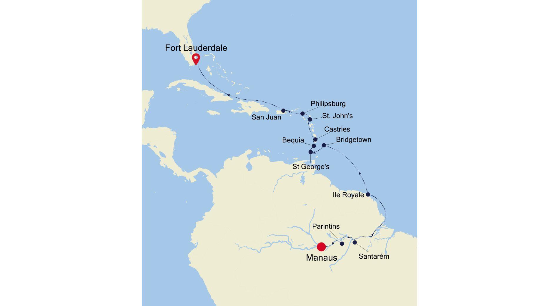 DA220302016 - Manaus à Fort Lauderdale