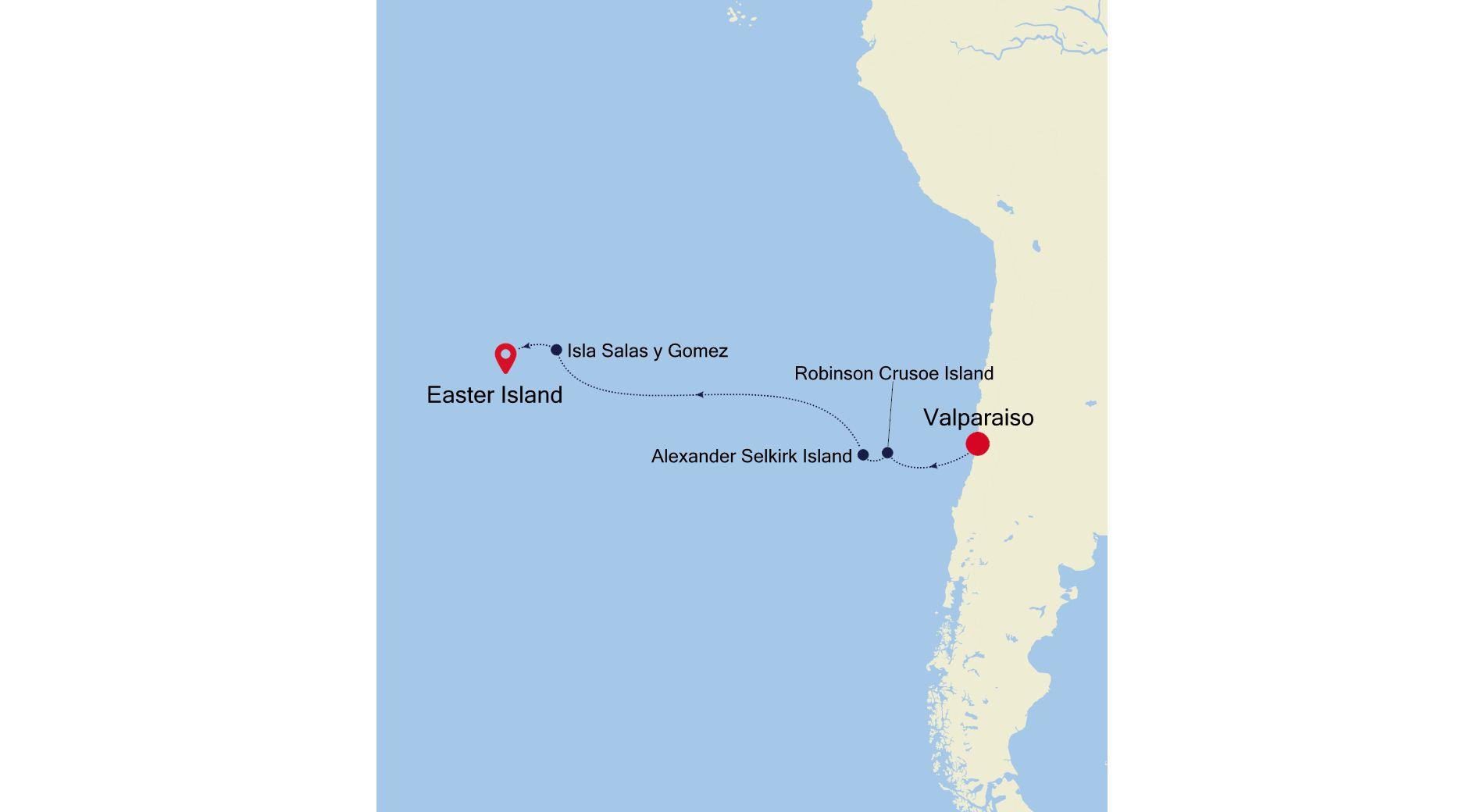 E1200318009 - Valparaiso nach Easter Island