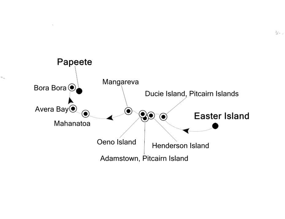 E1201117014 - Easter Island a Papeete